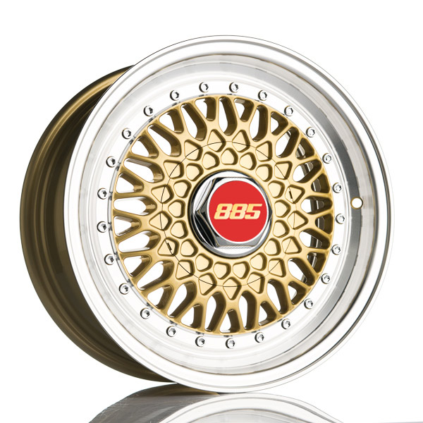 885 Classic RS Gold 7.5x17 5x110 E35 C72.6 - 20+ kpl</