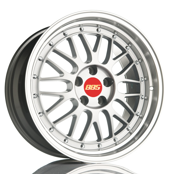 885 LeMans Silver 9x18 5x112 E30 C66.6 - 20+ kpl</
