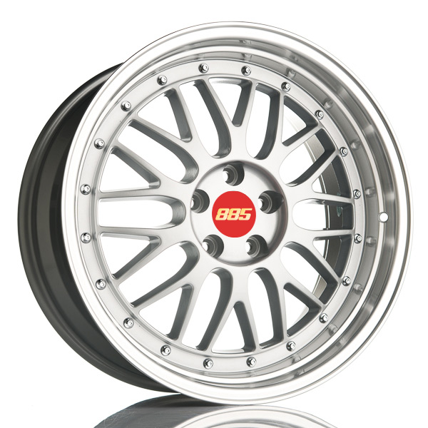 885 LeMans Silver 8.5x19 5x112 E35 C66.6 - 20+ kpl</