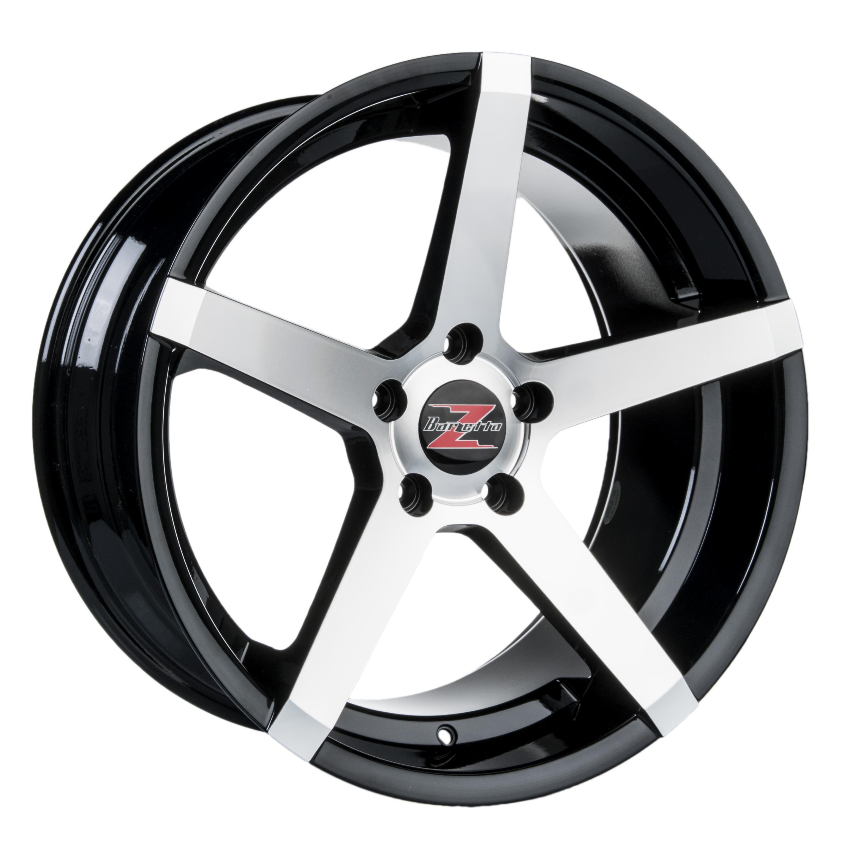 Barzetta Colonnello Black Polished 8.5x19 5x112 E30 C66.6 - 20+ kpl</