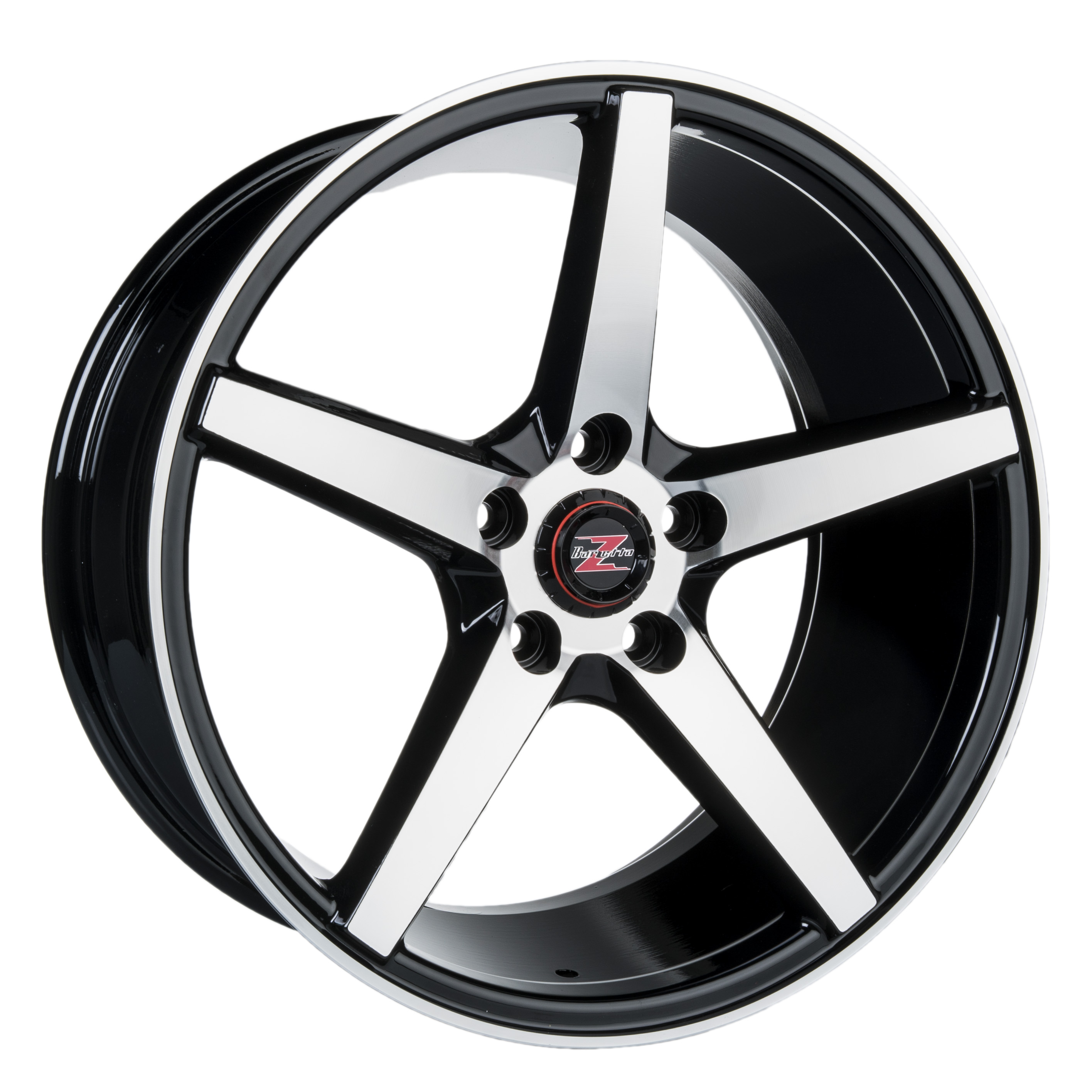 Barzetta Capitano Black Polished 8x17 5x108 E35 C65.1 - 20+ kpl</