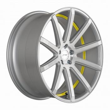 Corspeed  DEVILLE Silver-brushed-Surface/ undercut Color Trim gelb