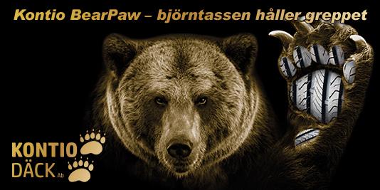 Kontio Däck rengasbanneri karhu kevät 2019 Ruotsi