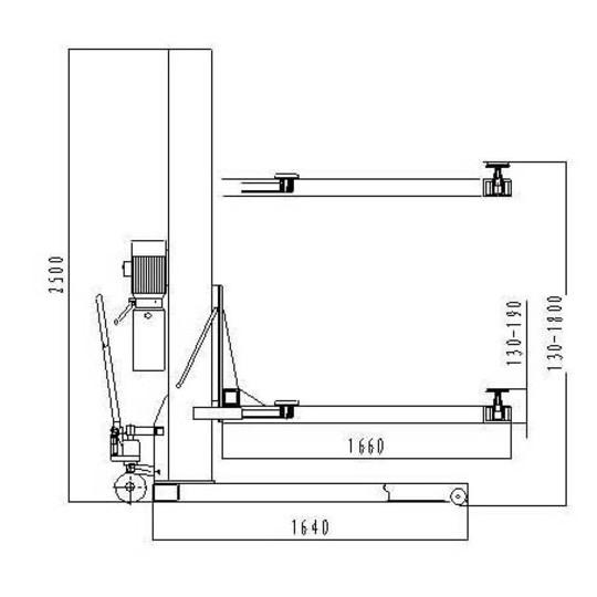 SteyrTek Siirrettävä 1-pilarinostin ST-S25T 230V Image: 2