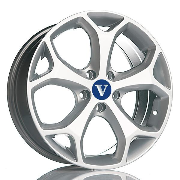 V-Wheels Kinect Silver 6.5x16 5x108 E43 C65.1 - 20+ kpl</