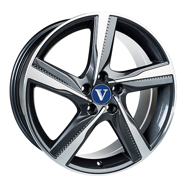 V-Wheels Tornado Titanium Polished 8x18 5x108 E42 C63.4 - 20+ kpl</