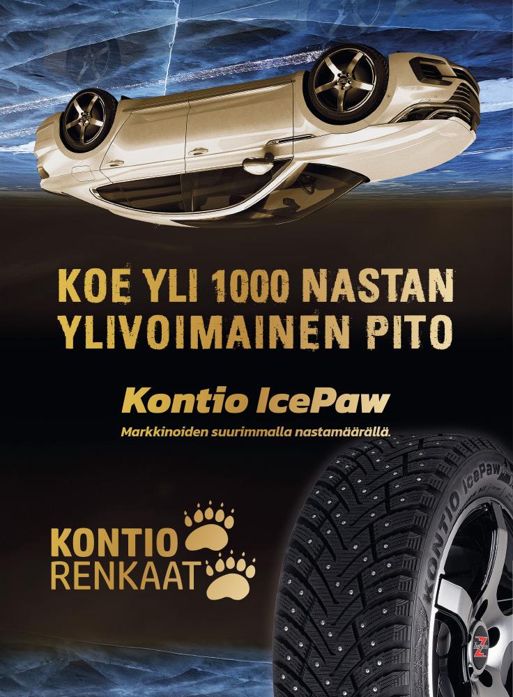 Kontio IcePaw - Markkinoiden suurimmalla nastamäärällä